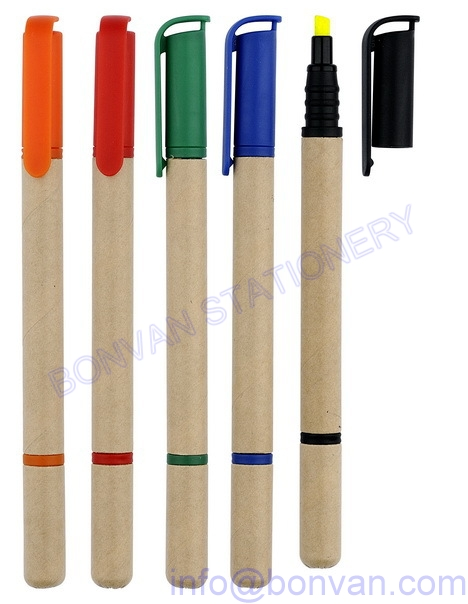 Eco paper higlighter marker pen