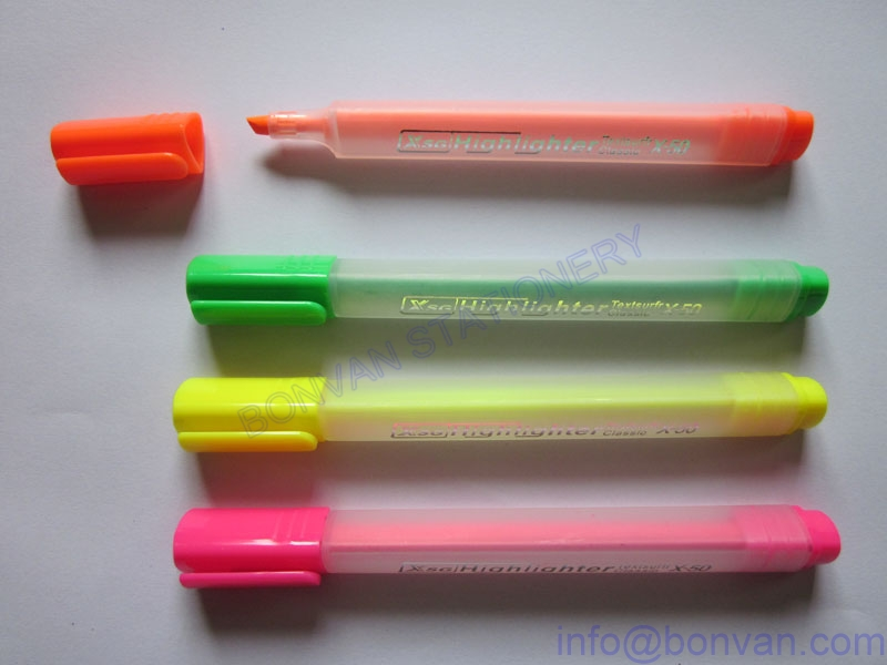 new style triangular barrel highlighter marker